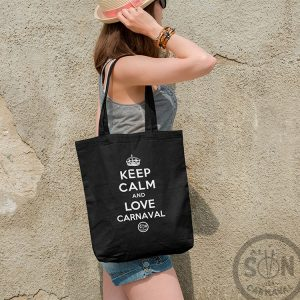 tote bag keep calm and love carnaval negro