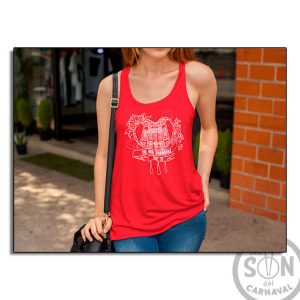 Camiseta Mujer Fashion corazon yo me enamore de ti roja