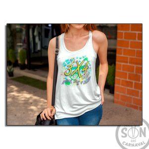 Camiseta Mujer Fashion el 3x4 llego ole ole y ole blanca
